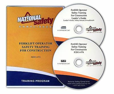 Forklift Operator Safety DVD Video Training Kit For Construction Industry
