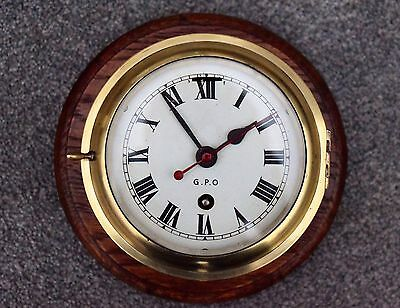 1940s/50s ORIGINAL BRASS GPO WALL CLOCK WITH A SMITHS ASTRAL 8 DAY MOVEMENT