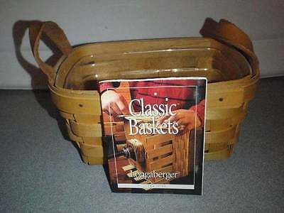 Longaberger Tea Basket With Protector and Product Card