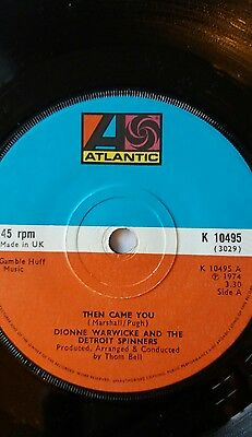 "DIONNE WARRICK & THE DETRIOT SPINNERS -Then Came You.  7"" vinyl 1974"