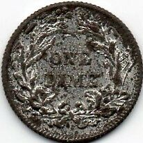 L CHR LAUER AMERICAN MINIATURE One Dime TOY TOKEN