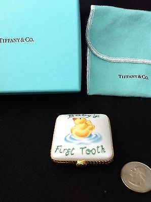 Limoges Tiffany Keepsake Box * Baby's First Tooth