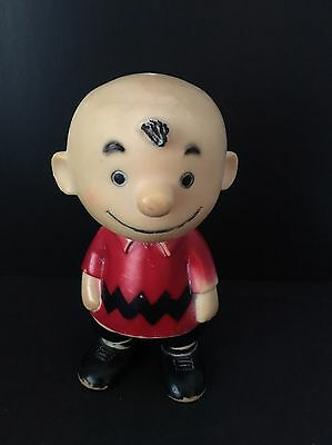 """Vintage 1960's Hungerford Charlie Brown Vinyl Figure United Feature Syndicate 9"""""""