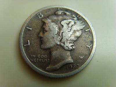 1920 Usa Dime Ten Cents Mercury Head United States Of America Coin