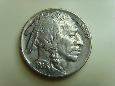 1936 Usa Nickel Five Cents Indian Head Buffalo United States Of America Coin