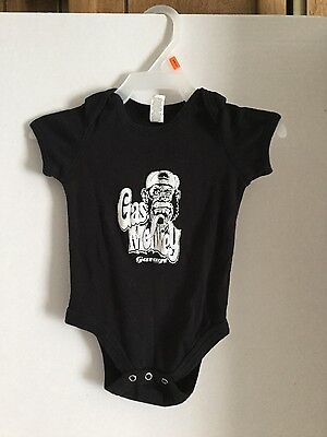 Gas Monkey Garage logo infant bodysuit 6-12 months black