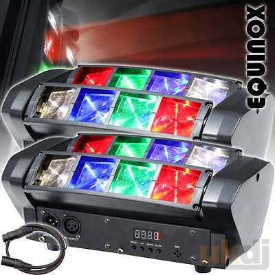 2 x KAM Micro Glide Compact 8 x 3w RGBW Sweeping Beam Lighting Effect Disco FX