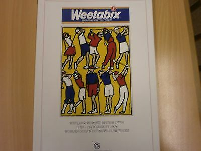 Weetabix Womens British Open Golf, 1994, Woburn, Official  Programme.