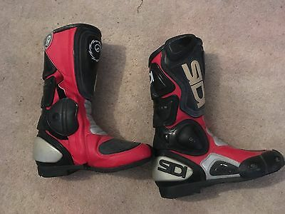 Ladies size 3 Red/black SiDi motorcycle boots
