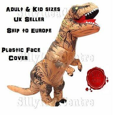 Kid & Adult Inflatable T-Rex Jurassic Dinosaur fancy dress stag party costume 90