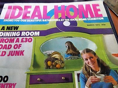 VINTAGE Ideal Home magazine March 1973