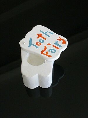 New Tooth Fairy Box ~ White Tooth ~ Slides Open ~ Trinket Boxes ~ Blue Orange