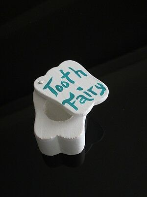 New Tooth Fairy Box ~ White Tooth ~ Slides Open ~ Trinket Boxes ~ Green
