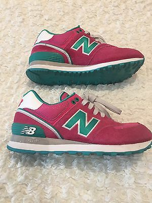 Women's Pink And Green New Balance Trainers