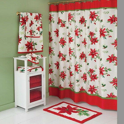 Lenox Christmas Meadow Shower Curtain -  Rug  And Towels