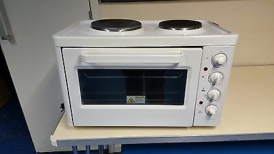 Table Top Mini Oven & Hob Electric Cooker. 2 Hot Plate. Good & Cleaning
