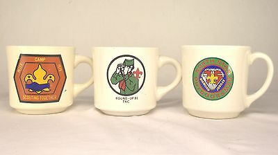 3 Boy Scout Mug Cups Trans Atlantic, North Star 75 Jubilee, Scouting Together