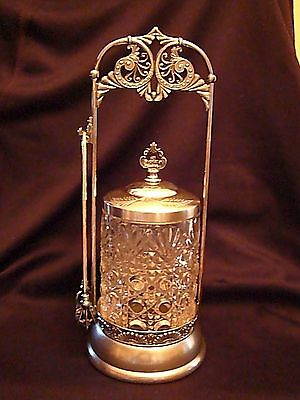 Antique Victorian Silver Plated Pickle Caster from Van Bergh Silver Plate Co.