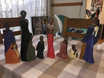 Maasai Soul Journeys Children Of The Maasai Figurines By Stacy Bayne Set Of 7