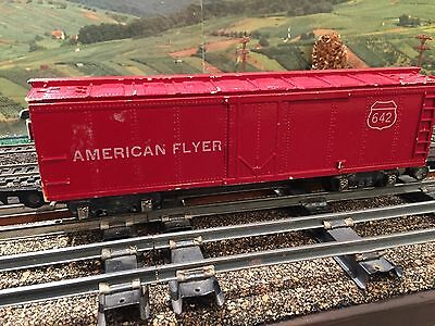 American Flyer Train #642 Red Box Car w/link couples -  Estate Sale