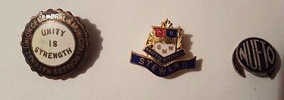 3 old Trade Union Badges