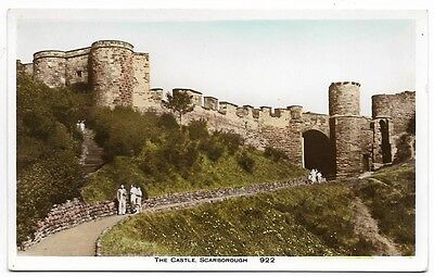 Old 1938 Real Photo Card,  The Castle, Scarborough.   371