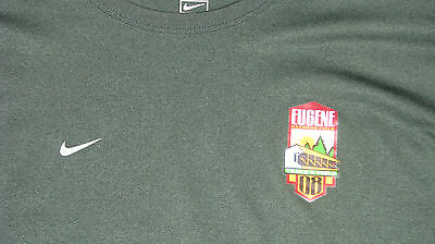 Nike Green fit dry running workout  loose dri fit shirt L  Eugene 08 track field