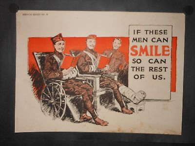 Disabled Soldier If These Men Can Smile So Can The Rest Of Us WWI Patriotic