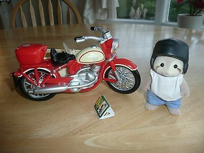 sylvanian families Motorcycle and sidecar with Racoon