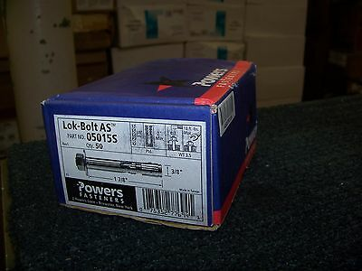 Powers Fasteners Lok-Bolt AS Sleeve Anchor. 50ea. #05015S