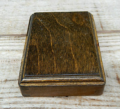 Vintage Single Wooden Pattress for Old Brass  Bakelite Dolly Light Switch #13
