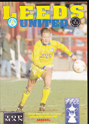 1990/91 LEEDS UNITED V ARSENAL 16-02-1991 FA Cup 4th Round 3rd Replay