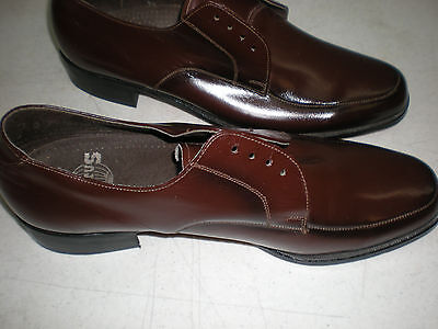 Status Vtg Brown Leather Mens Size 11 Usa  Czechoslovakia  -They Look Never Used