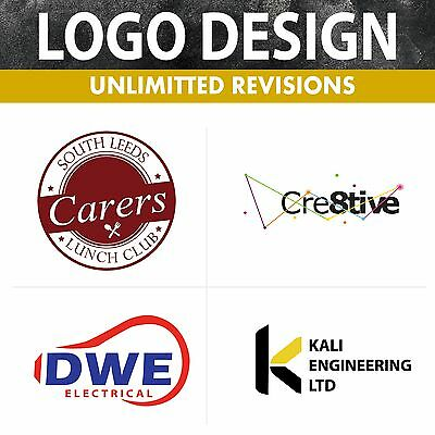 Professional Logo Design Service, Quick & Cheap & Bespoke - Unlimited Revisions