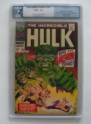 The Incredible Hulk #102 (Apr 1968, Marvel)  PGX 9.2 (not CGC)