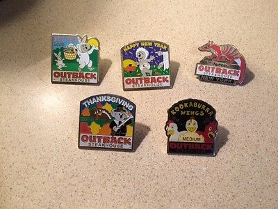Lot of 5 Outback Steakhouse Pins