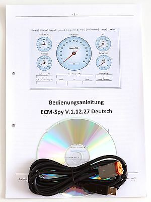 Buell ECMspy CDI Interface Diagnose USB Kabel Software CD ECM-Spy Laptop Tablet