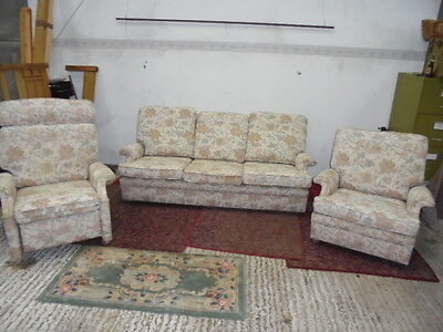 Parker Knoll  Three Piece Suite sofa armchair and recliner