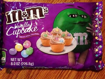 M&M's Easter NEW Vanilla Cupcake White Chocolate Flavor Candy 8.0 oz
