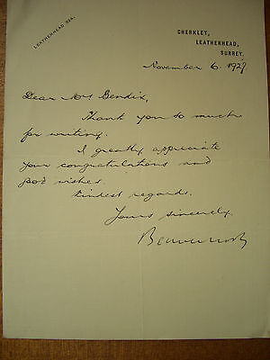 Autograph letter signed by Lord Beaverbrook, 1927