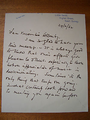 Autograph letter signed by the violinist and orchestra leader, Paul Beard, 1962