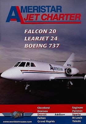 Just Planes Ameristar Falcon20 Learjet24 Boeing 737 World Air Routes Cockpit DVD