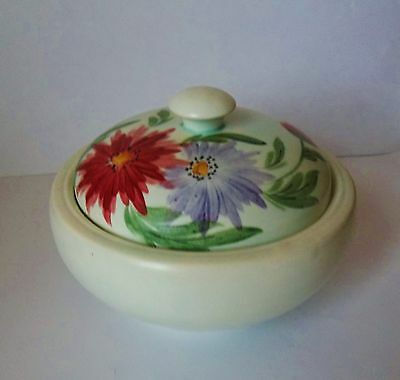Vintage E. RADFORD 1930's Hand Painted Lidded Bowl Powder Bowl Signed to Base