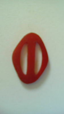 ART DECO Belt Buckle early plastic 1930s Red