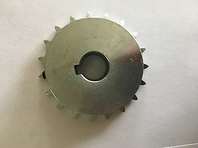 "# 40 Sprocket 19 Tooth 3/4"" Bore 1/4"" Keyway W/set Screw Chrome Plated Lots Of 2"
