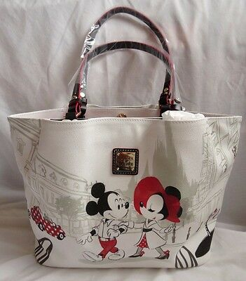 Disney Dooney & and Bourke Minnie Cafe Mouse Valentine's Day Shopper Tote Bag