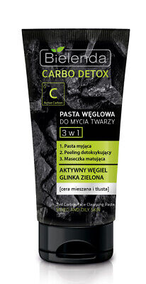 BIELENDA carbo detox CHARCOAL FACE CLEANSING PASTE 3 in 1 150 g