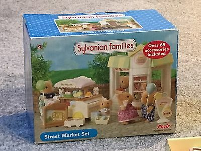 Sylvanian Families Street Market Set - Crepe House And Toy Wagon (Boxed)