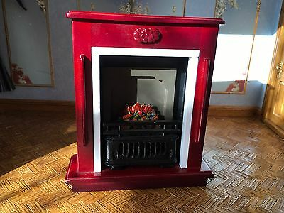 1/12th Scale Dolls House Fireplace/Fire