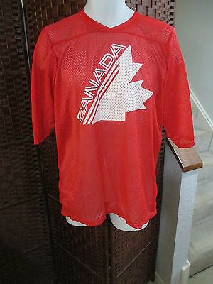 Vintage Ravens Knit Team Canada Hockey Jersey Shirt Adult Large